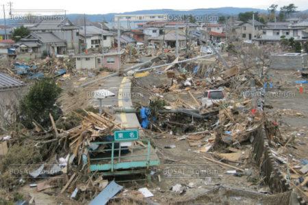 東松島市野蒜地区 JR東名駅津波被害