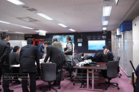 県庁危機管理センターの様子