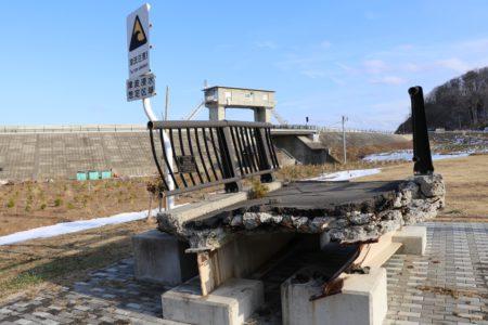 米田歩道橋の一部